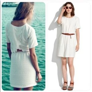 Madewell Silk Scenic View Cut-Out Dress